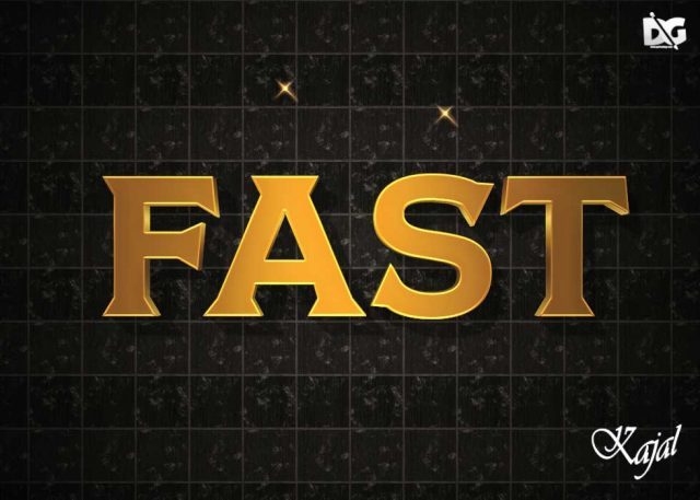 3D PSD Gold Text Effect Styles