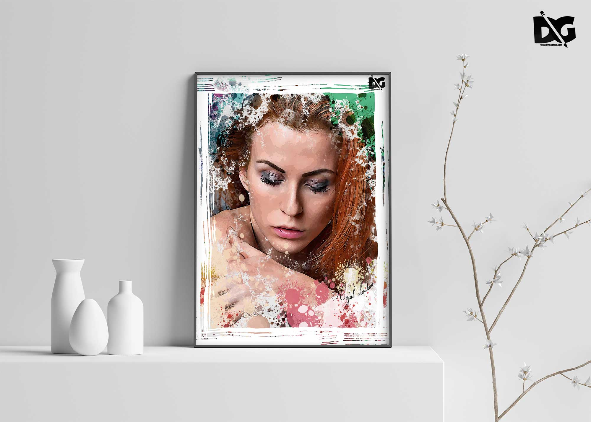 Art Stick PSD Photo Effect Template