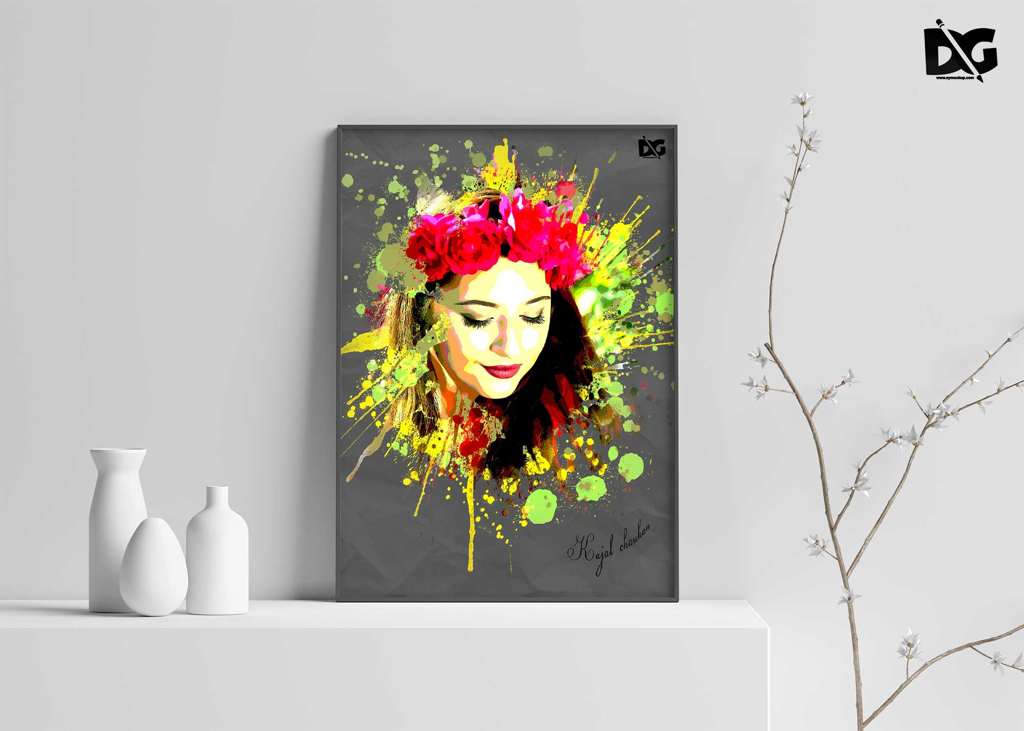 Art Stick Photo Template PSD
