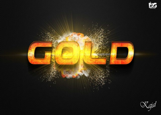 Free Download Gold Effect PSD File