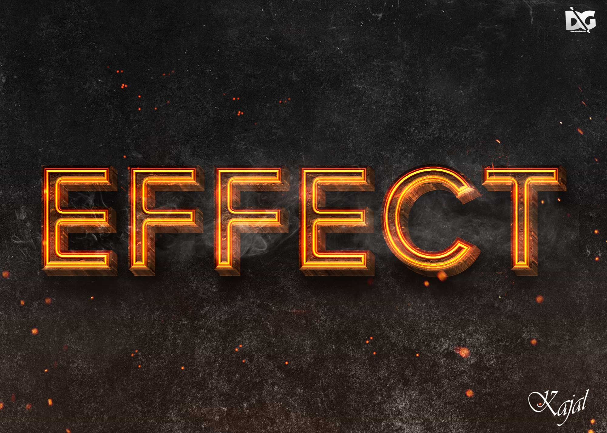 Latest Burnt Textured Text Effects