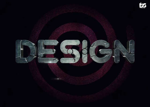 Latest Stone Text Effect PSD for Designers