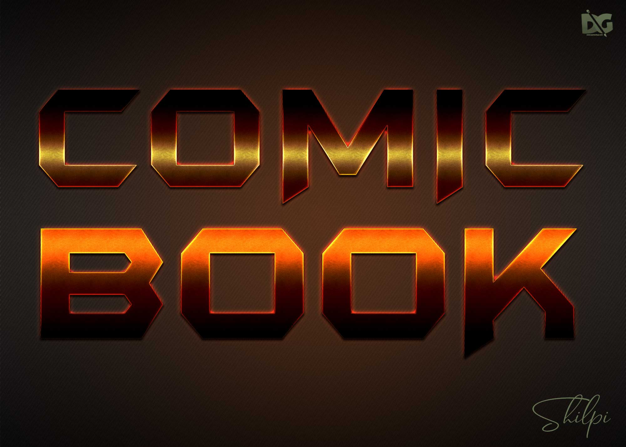 Comic Style Text Effect PSD