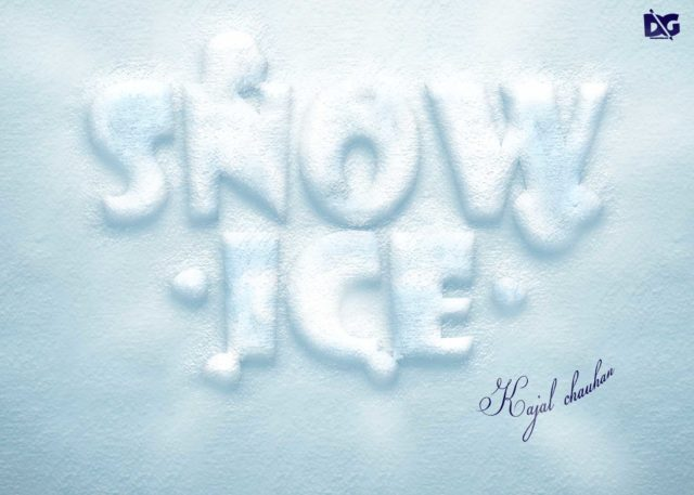 PSD Ice Text Effect