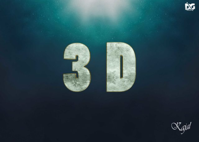 Magnificent Water Text Effect Photoshop Download PSD