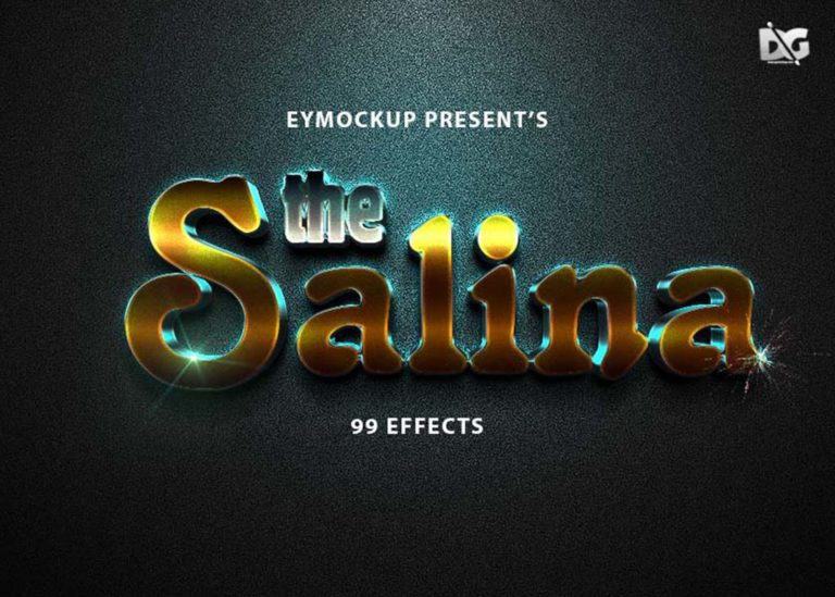 Salina Text Effect PSD