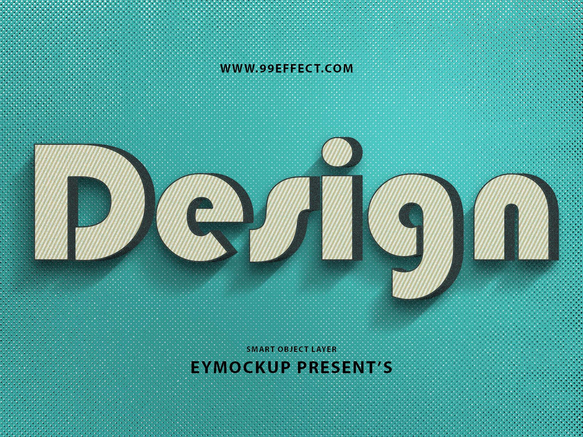 Free 3D Text Photoshop Effect