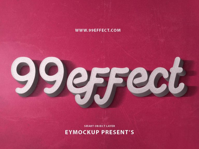 Free3D Text Style PSD