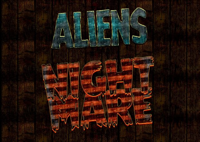 Free Aliens Realistic Text Effect