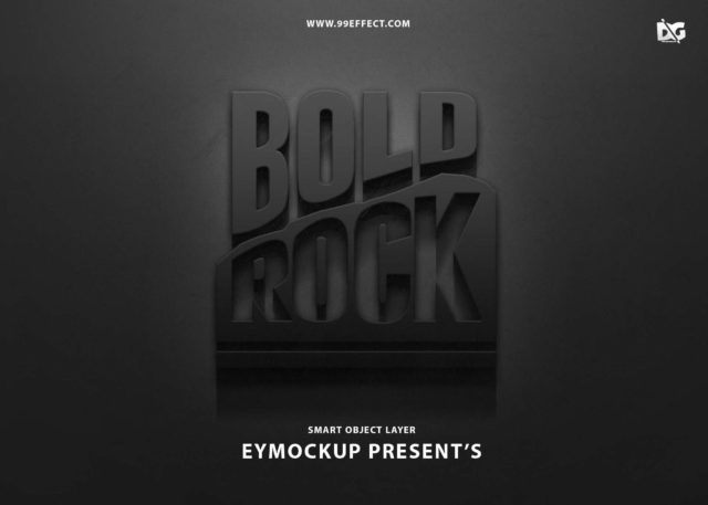 Free Bold Rock Text Effects PSD