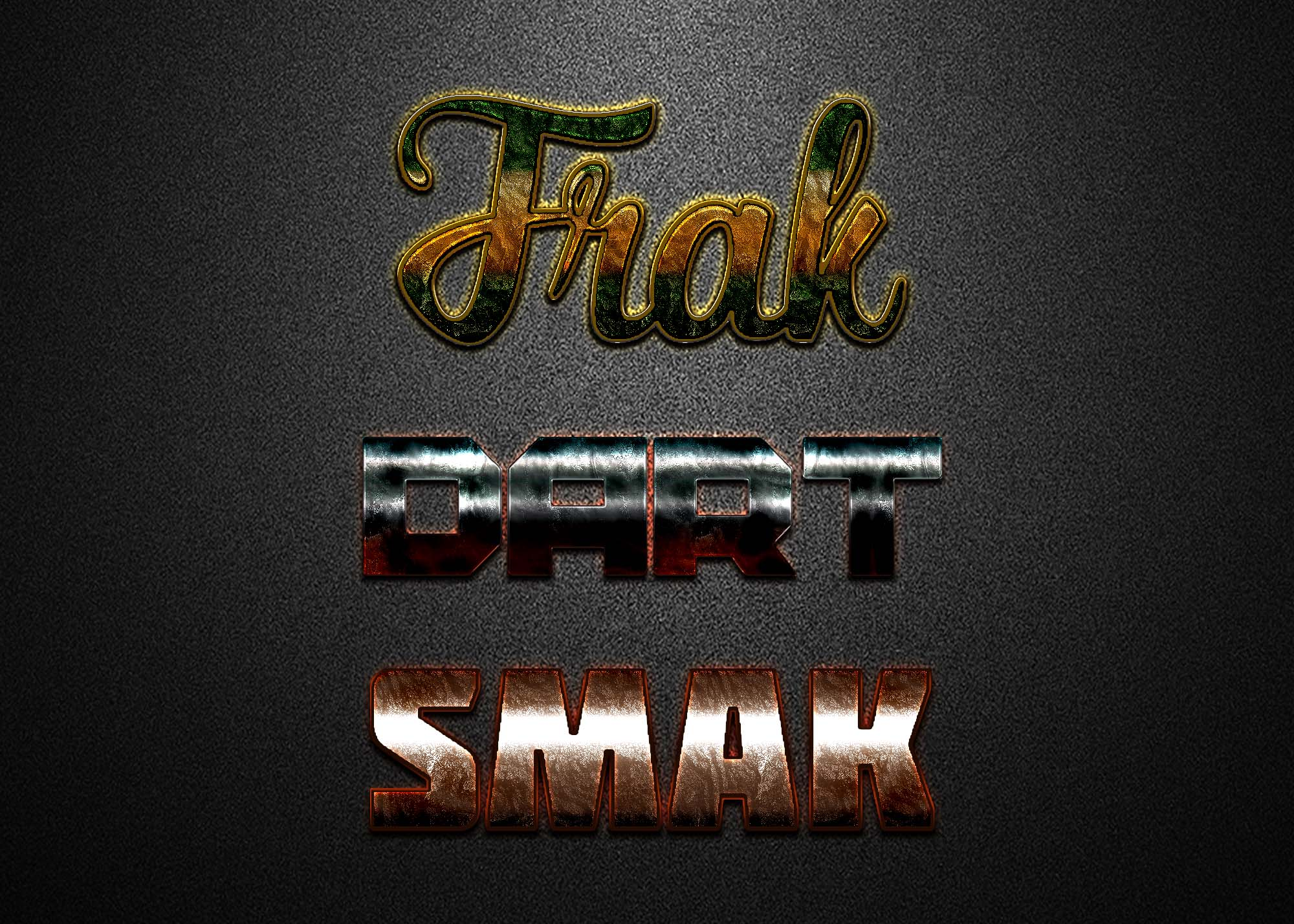 Free Gold Silver Foil Text Effect
