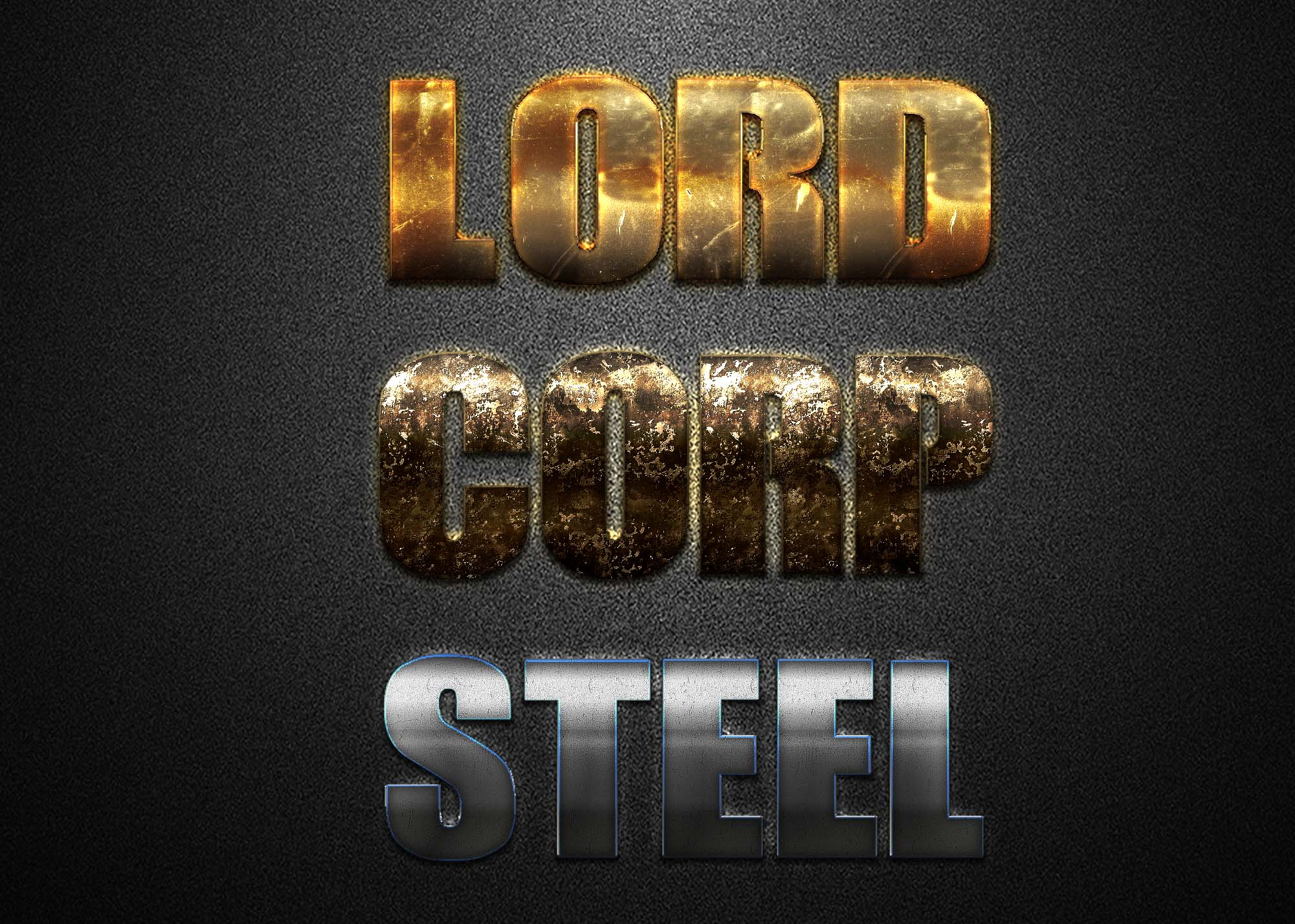 Free Golden Silver Metallic Text Effect