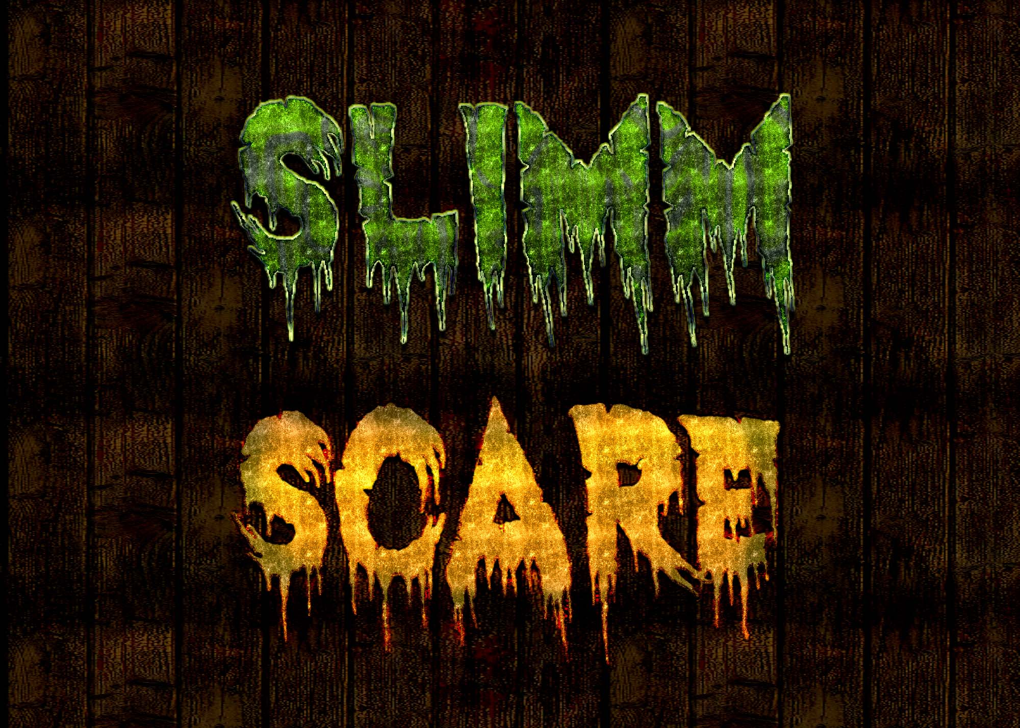 Free Scare Text Effect PSD in Photoshop