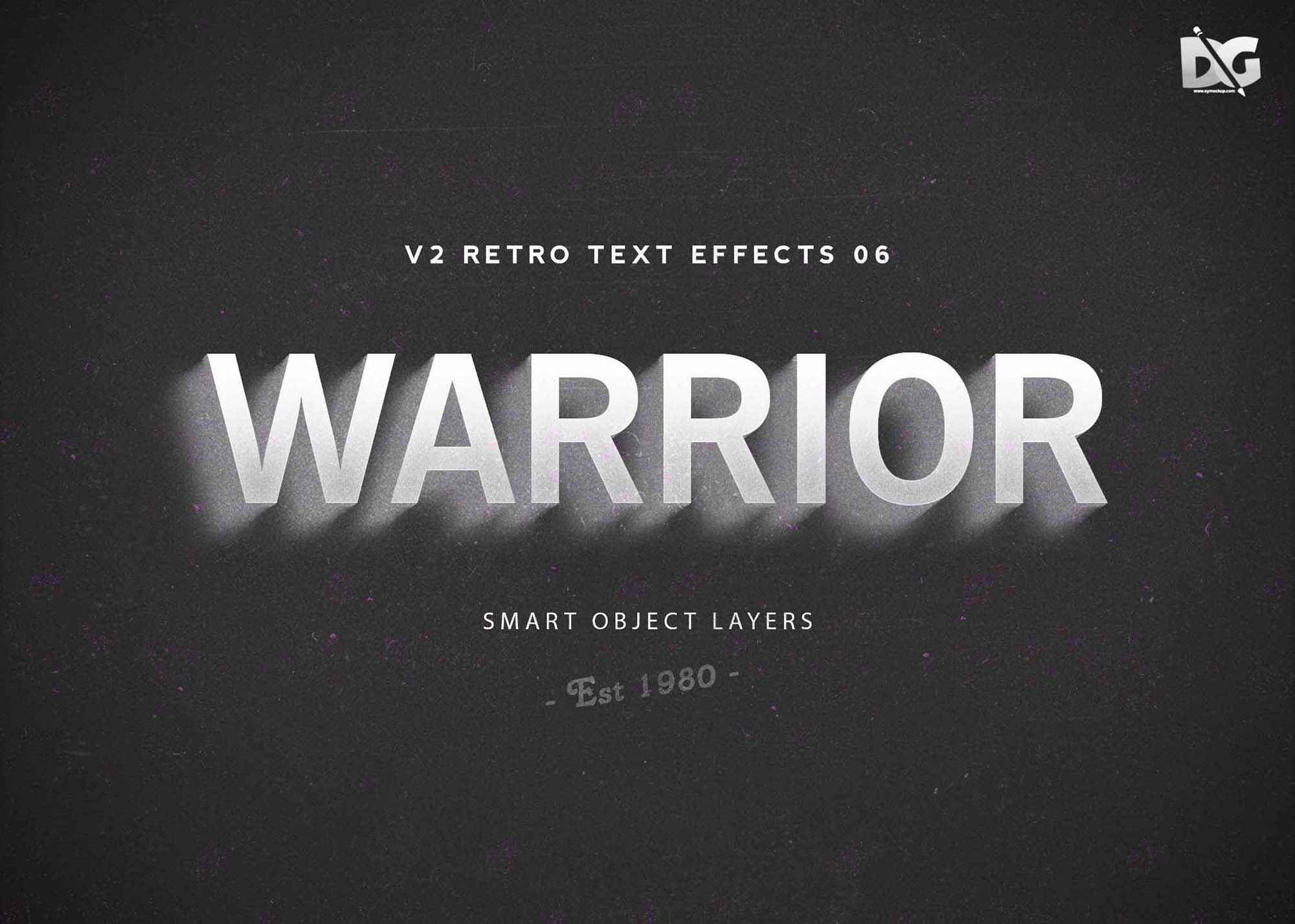Free Warrior PSD Text Effects