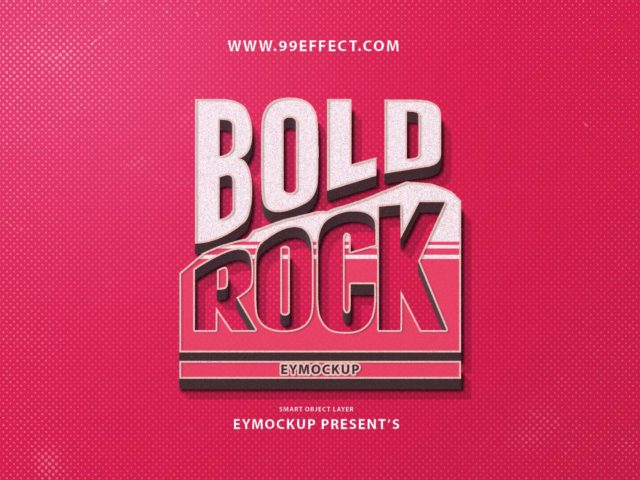 free bold rock text effect photoshop