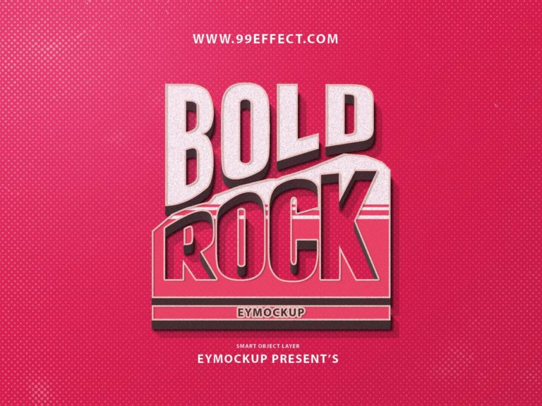 free rock text effect photoshop