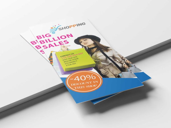 Big Billion Sale Tri-Fold PSD Brochure Template
