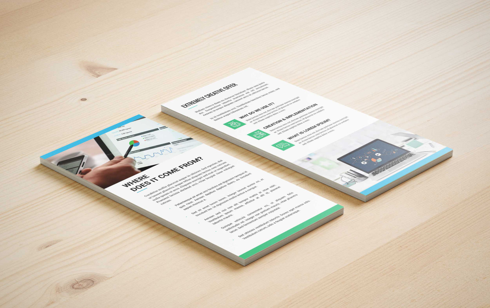 Business Creative Team PSD Tri-Fold Brochure Template