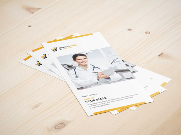 Dental Checkup PSD Tri-Fold Brochure Template