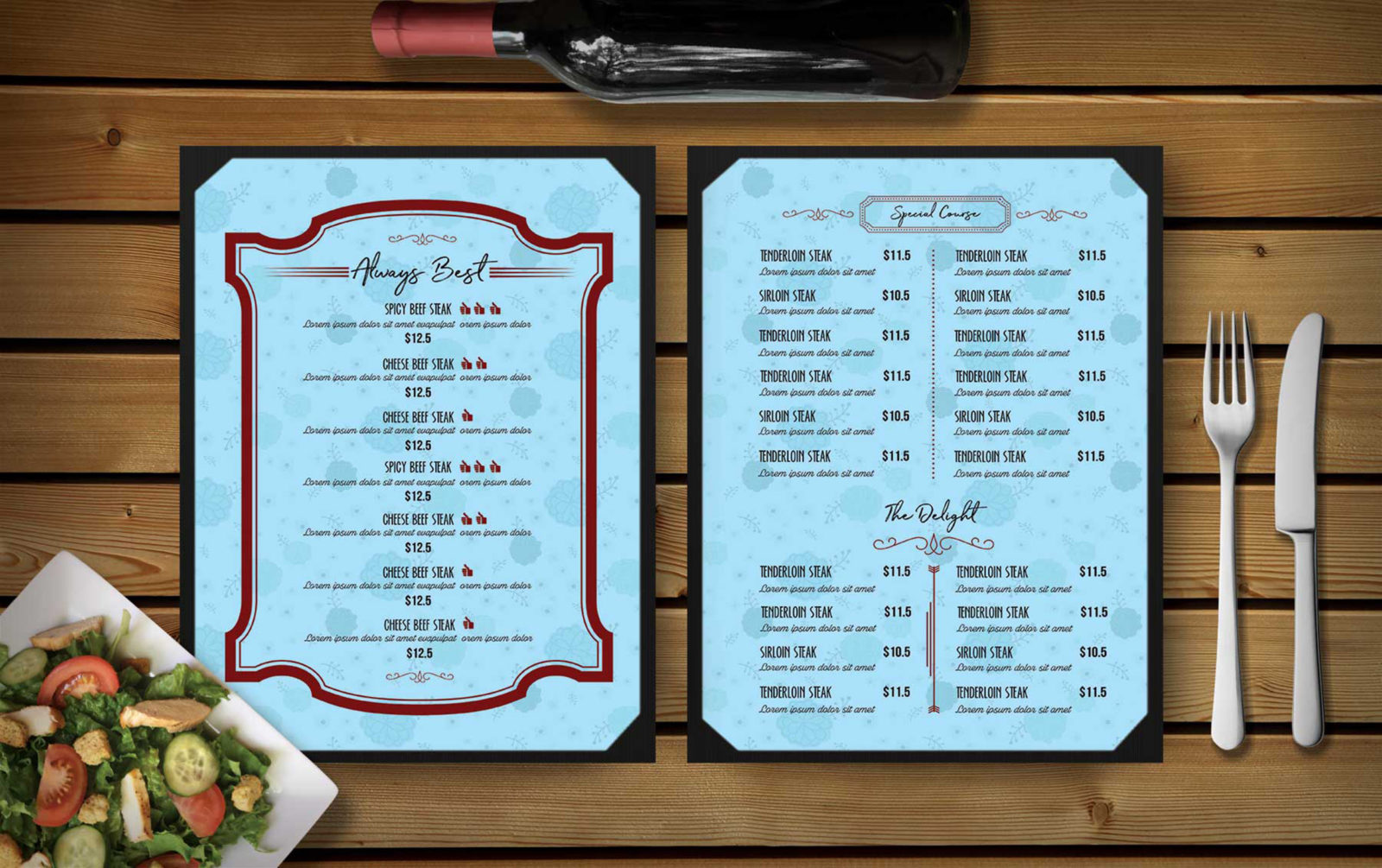 Sweet Dessert Menu Template