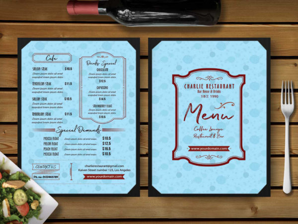 6 Pages Sweet Dessert Menu Template