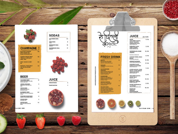 Healthy Menu Template