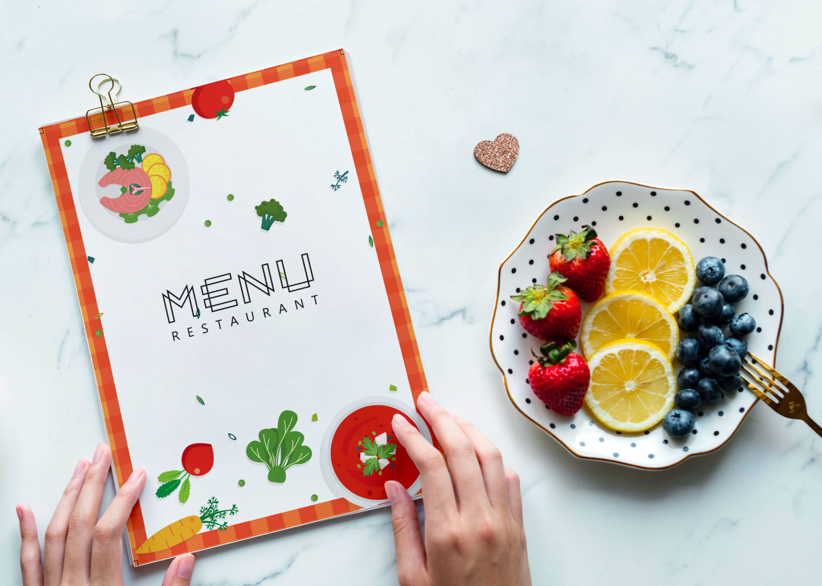 Food Restaurant PSD Menu Template