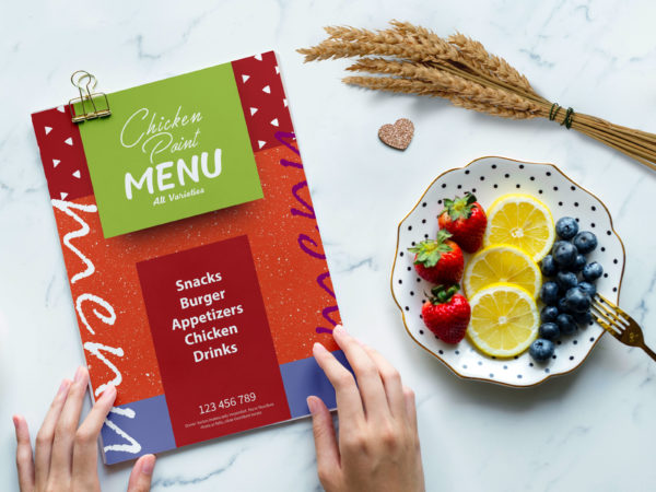New Chicken 6-Page Menu Card Template