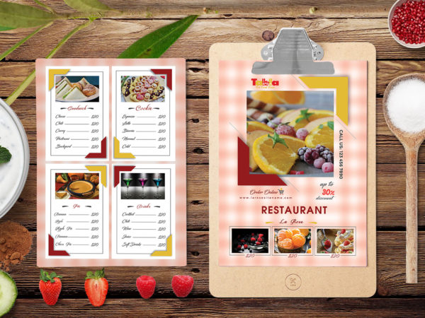PSD Menu Template