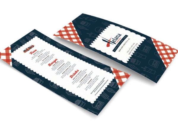 New PSD Restaurant DL Menu Template
