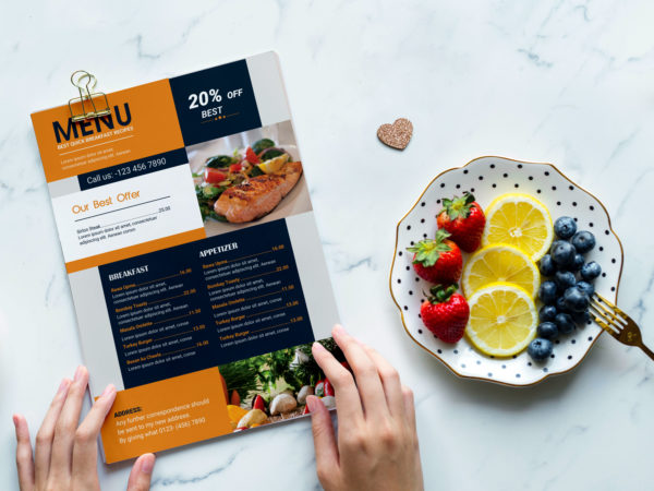New Pasta House Menu PSD