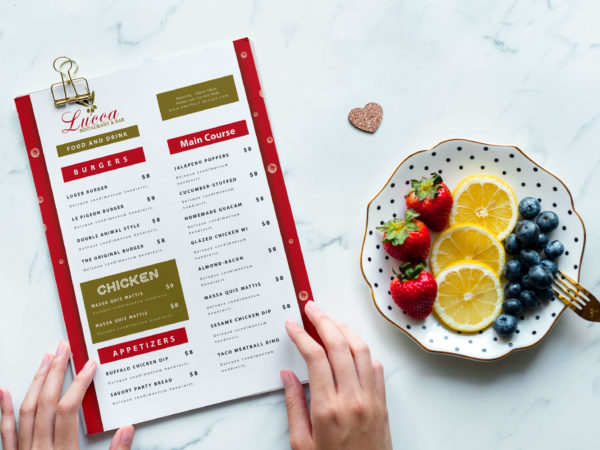 Premium Burger Joint PSD Menu Template