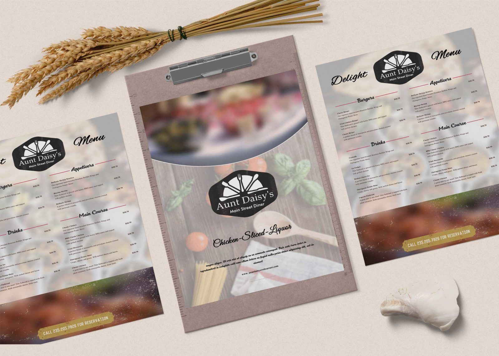 Premium Street Side Restaurant PSD Menu Template