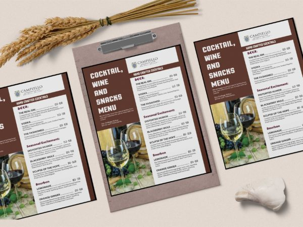 Prime Cocktail House Menu PSD Template