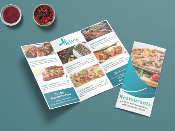 Prime New Pizza Corner Tri Fold Menu Template