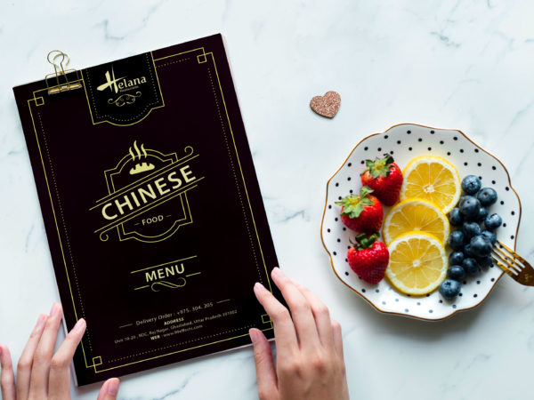 Vintage Style New Chinese Food Menu Template