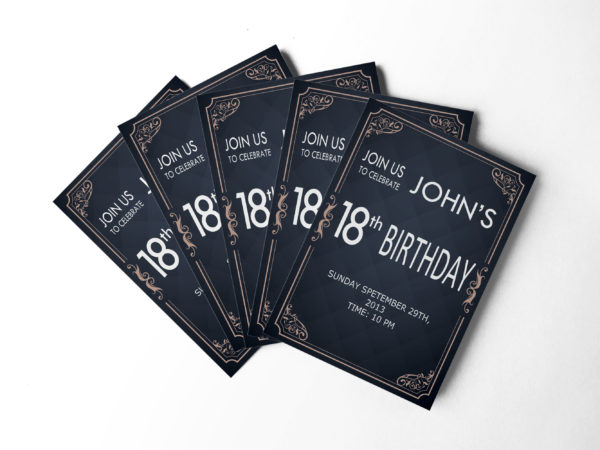 18th Birthday Invitation Design Templates