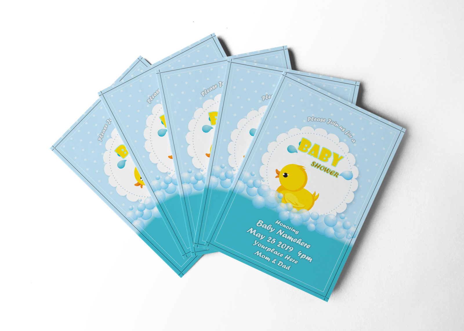 Shower Invitation Design Template