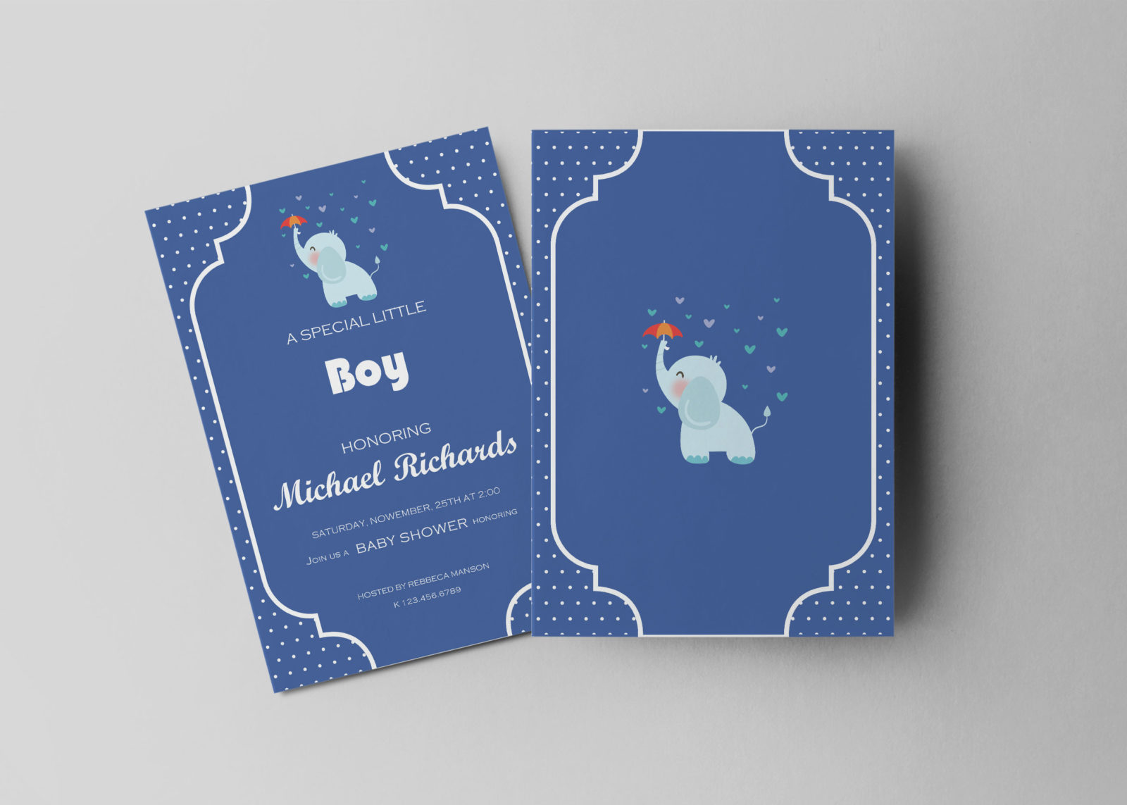 Boy Shower Invitation Design Template