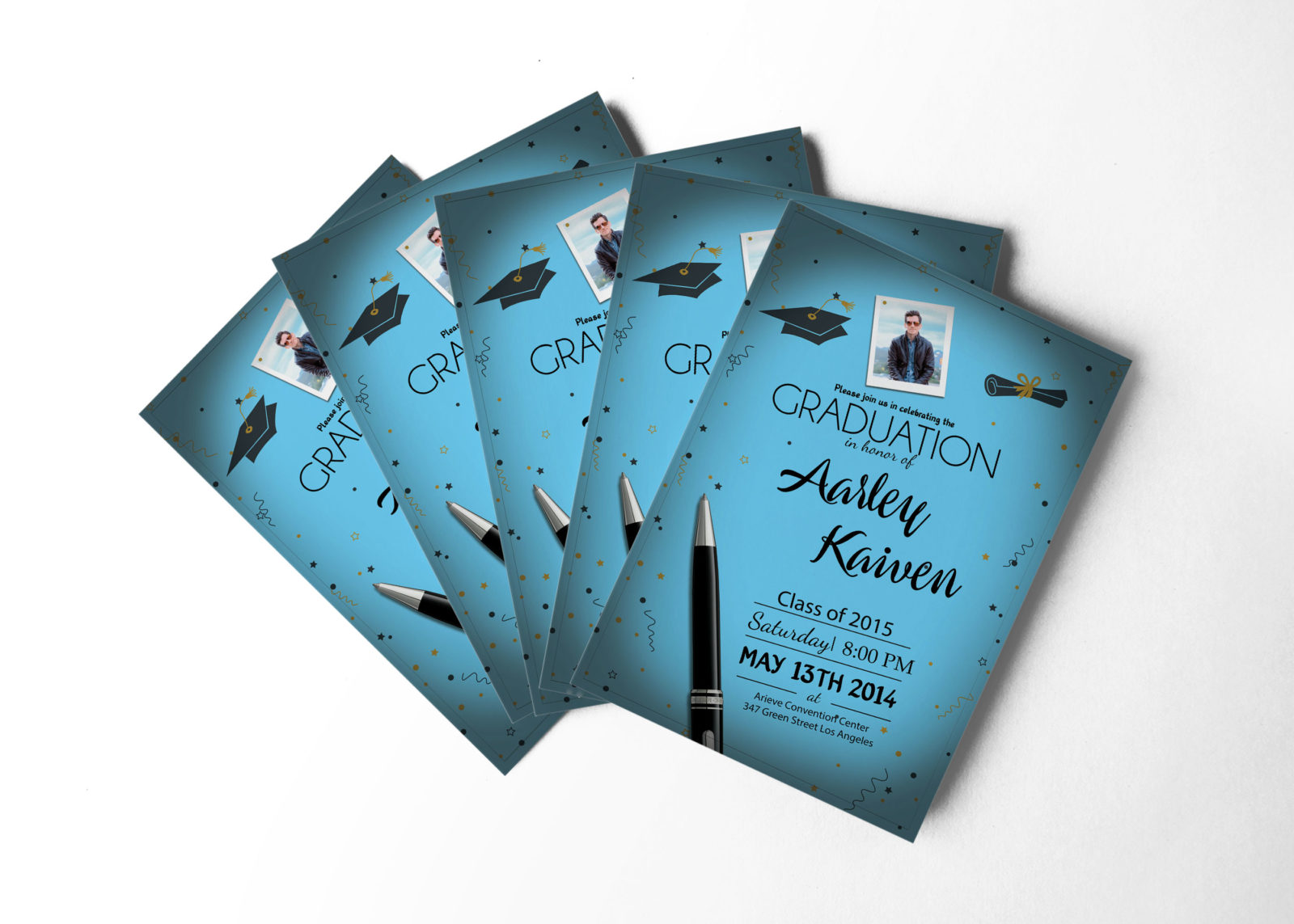 Graduation Invitation Design Template