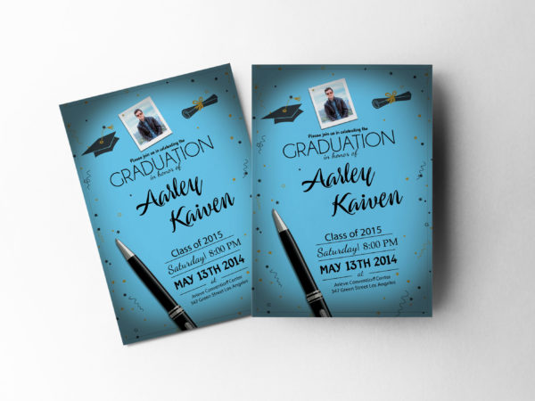 Graduation Ceremony Invitation Design Template