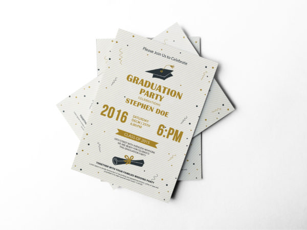 Graduation Party Invitation Design Template