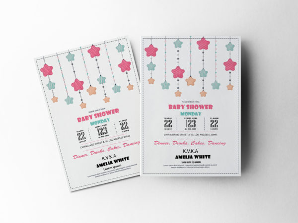 Baby Shower Invitation Design Template