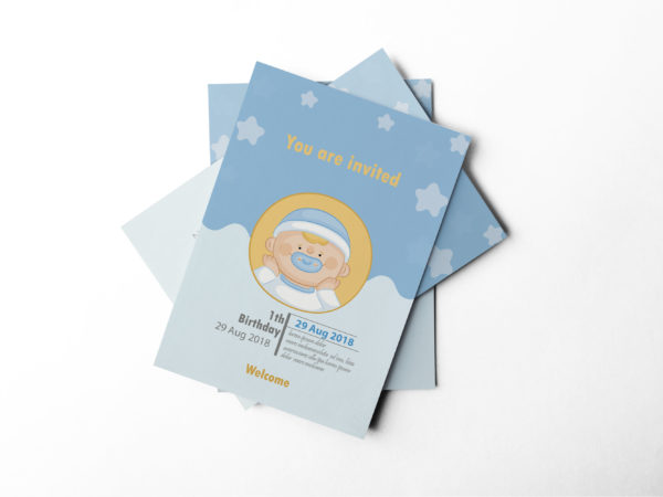 Unique Baby Shower Invitation Design Template