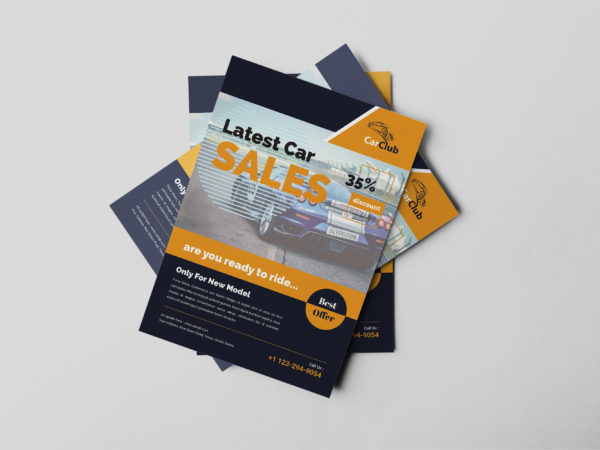 Auto Sales Flyer Design Template