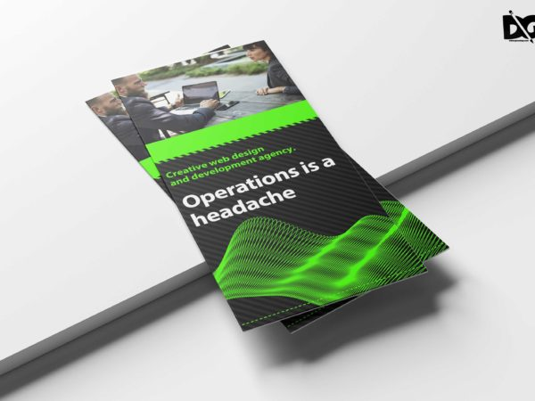 Awesome Business Tri Fold Brochure Design Template