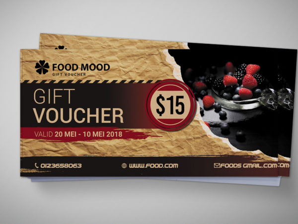 Bakery Gift Voucher Design
