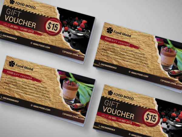 Bakery Gift Voucher Design Template