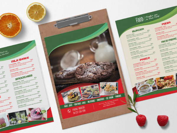Bakery Menu Bi-Fold Brochure Design