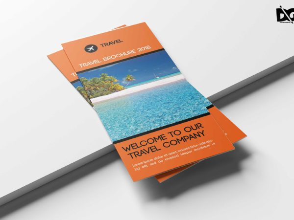 Beautiful Travel Vacation Tri-Fold Brochure Design Templates